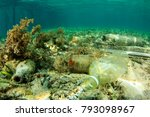 plastic pollution environmental ... | Shutterstock . vector #793098967