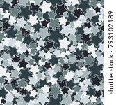 a motley pattern of five... | Shutterstock .eps vector #793102189