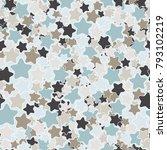 a motley pattern of five... | Shutterstock .eps vector #793102219