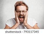 close up portrait of crazy... | Shutterstock . vector #793117345