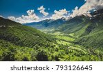 panoramic summer landscape with ... | Shutterstock . vector #793126645