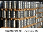 many steel kegs of beer in... | Shutterstock . vector #79313245