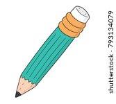 vector set of pencil | Shutterstock .eps vector #793134079