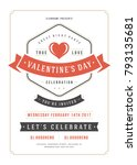 happy valentines day party... | Shutterstock .eps vector #793135681