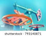 oil valve with rocking in the...   Shutterstock . vector #793140871