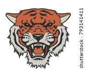 tiger head  vector illustration.... | Shutterstock .eps vector #793141411