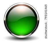 button green glossy  shiny... | Shutterstock .eps vector #793141465