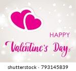 valentines day lettering...   Shutterstock .eps vector #793145839