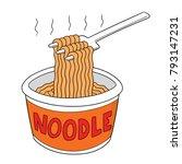 vector set of noodle | Shutterstock .eps vector #793147231