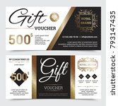 gift coupon royal design with... | Shutterstock . vector #793147435