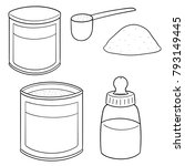 vector set of milk powder | Shutterstock .eps vector #793149445