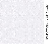 polka dots pattern on white... | Shutterstock .eps vector #793150639