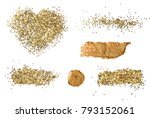 abstract acrylic gold brush... | Shutterstock . vector #793152061