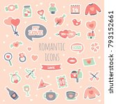 cute romatic design. perfect... | Shutterstock .eps vector #793152661