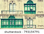 building with traditional... | Shutterstock . vector #793154791