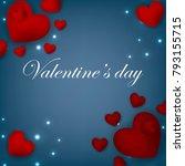 happy valentines day background ... | Shutterstock .eps vector #793155715