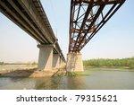 iron bridge across the river | Shutterstock . vector #79315621