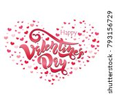 happy valentines day typography ... | Shutterstock .eps vector #793156729