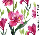 floral ornament  lily... | Shutterstock . vector #793156891