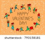 valentine day greeting card... | Shutterstock .eps vector #793158181