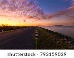 landscaped walkway around a... | Shutterstock . vector #793159039