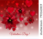 happy valentine's day greeting... | Shutterstock .eps vector #793162819