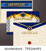 elegant template of certificate ...   Shutterstock .eps vector #793166491