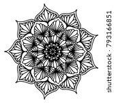 mandalas for coloring book.... | Shutterstock .eps vector #793166851