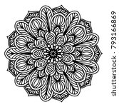 mandalas for coloring book.... | Shutterstock .eps vector #793166869