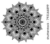 mandalas for coloring book.... | Shutterstock .eps vector #793166899