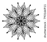 mandalas for coloring book.... | Shutterstock .eps vector #793166911