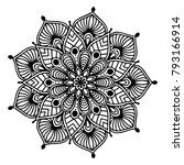 mandalas for coloring book.... | Shutterstock .eps vector #793166914