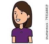 beautiful woman avatar character | Shutterstock .eps vector #793168819