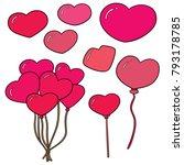 vector set of heart | Shutterstock .eps vector #793178785
