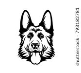 german shepherd dog   isolated... | Shutterstock .eps vector #793182781
