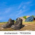 touristic boots near a... | Shutterstock . vector #79318336