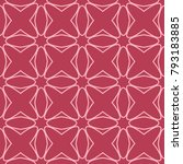 red and pale pink geometric... | Shutterstock .eps vector #793183885