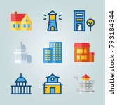 icon set about construction.... | Shutterstock .eps vector #793184344