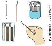 vector set of cotton swab | Shutterstock .eps vector #793184947