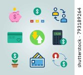 icon set about currency. with... | Shutterstock .eps vector #793189264