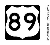 us route 89  filled with white  ... | Shutterstock .eps vector #793191949
