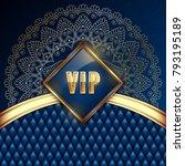 elegant vip invitation card... | Shutterstock .eps vector #793195189