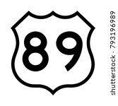 us route 89  filled with white | Shutterstock .eps vector #793196989