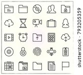 office line icons set cloud and ...   Shutterstock .eps vector #793205359