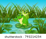 vector illustration of river... | Shutterstock .eps vector #793214254