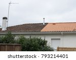 house before and after dirty... | Shutterstock . vector #793214401