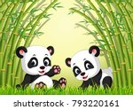 vector illustration of two cute ... | Shutterstock .eps vector #793220161