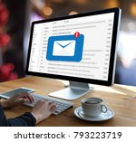 mail communication connection... | Shutterstock . vector #793223719