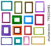 colored picture frames... | Shutterstock . vector #793224481
