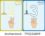 learning the numbers 0 10 ... | Shutterstock .eps vector #793226809